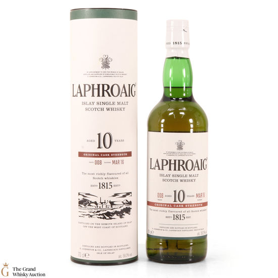 Laphroaig - 10 Year Old - Original Cask Strength Batch #008