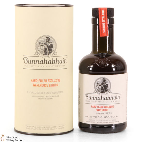 Bunnahabhain -10 Year Old - Hand Filled -  Manzanilla (20cl)