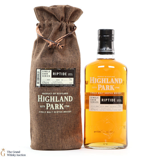 Highland Park - 12 Year Old - Single Cask #5187 - Riptide (75cl)