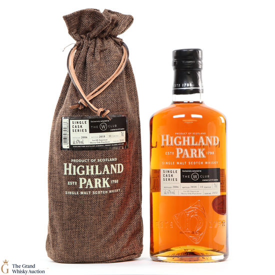 Highland Park - 11 Year Old - Single Cask #2132 - The W Club