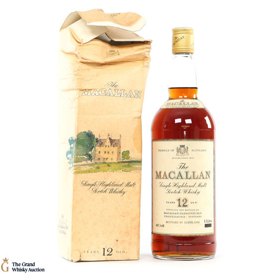 Macallan - 12 Year Old (1980s)  - 1L