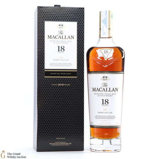 Macallan - 18 Year Old - Sherry Oak (2019)