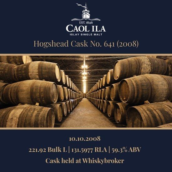 Caol Ila - 2008 Hogshead #641 - 221.92 Bulk L 59.3% | Held In Bond