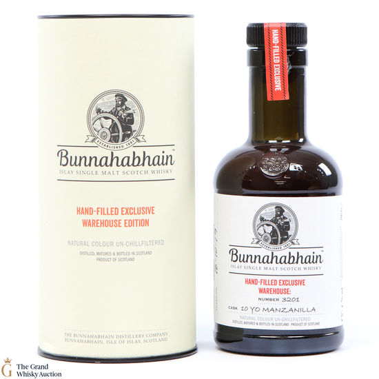 Bunnahabhain - 10 Year Old - Hand Filled #3201 - Manzanilla (20cl)