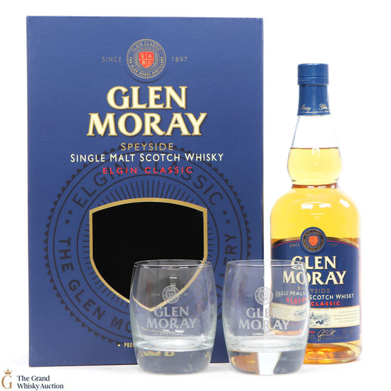 Glen Moray - Elgin Classic + Glasses