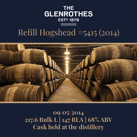 Glenrothes - 2014 Refill Hogshead #5415 - 217.6 Bulk L 68.0% | Held In Bond