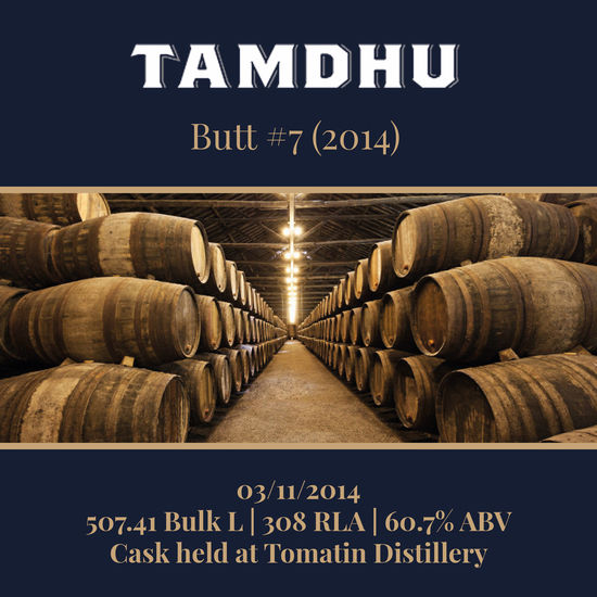 Tamdhu - 2014 Butt #7 - 504.41 Bulk L 60.7% | Held In Bond