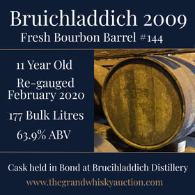 Bruichladdich - 11 Year Old 2009 Fresh Fill Bourbon #144